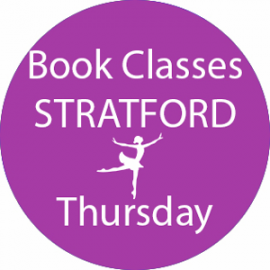 Online dance class booking at Stratford Thursday at Lyric Dance school