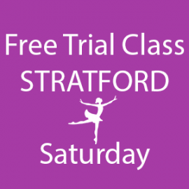 Online FREE trial class booking at Stratford Saturday at Lyric Dance school