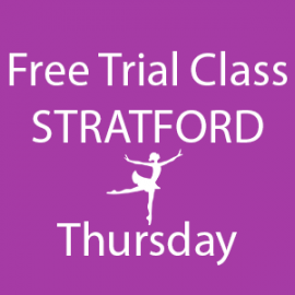 Online FREE trial class booking at Stratford Thursday at Lyric Dance school